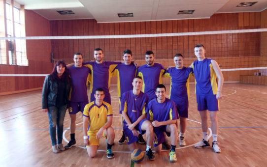 Първо място за представителния отбор по волейбол на Старопрестолна професионална гимназия по икономика в областния  етап  на Ученическите игри 2018-2019г.
